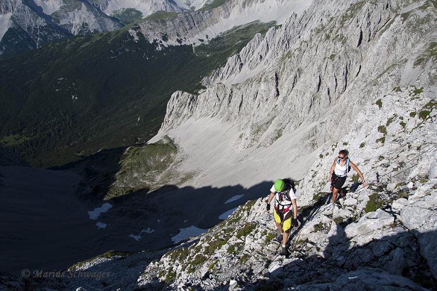 Klettersteig Nordkette : Hafelekar marius schwager