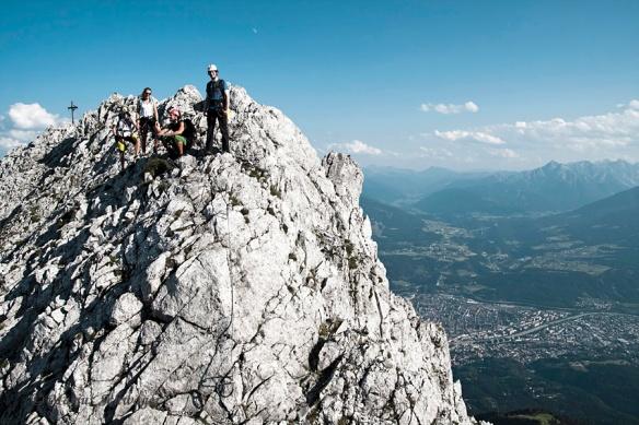 Klettersteig Nordkette : Klettersteig marius schwager